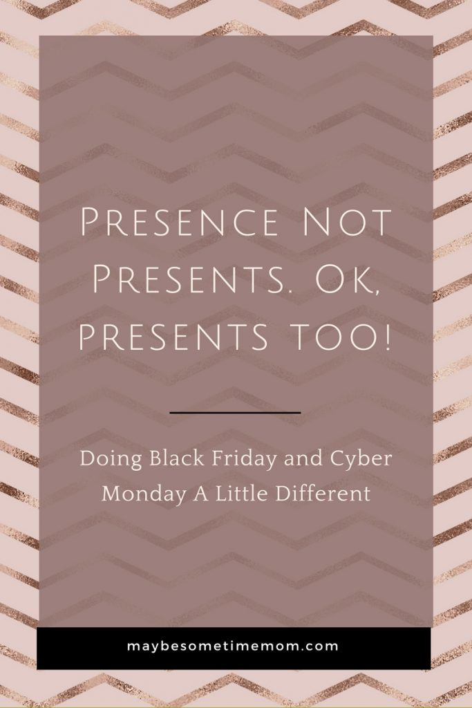 Black Friday and Cyber Monday Slowing Down Presence Not Presents