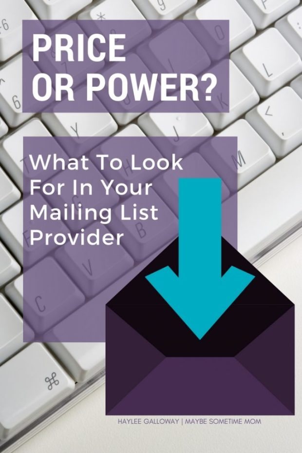 Price or Power | What To Look For In Your Mailing List Provider